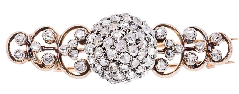 18 Karat Rose Gold and Dutch Diamond Brooch