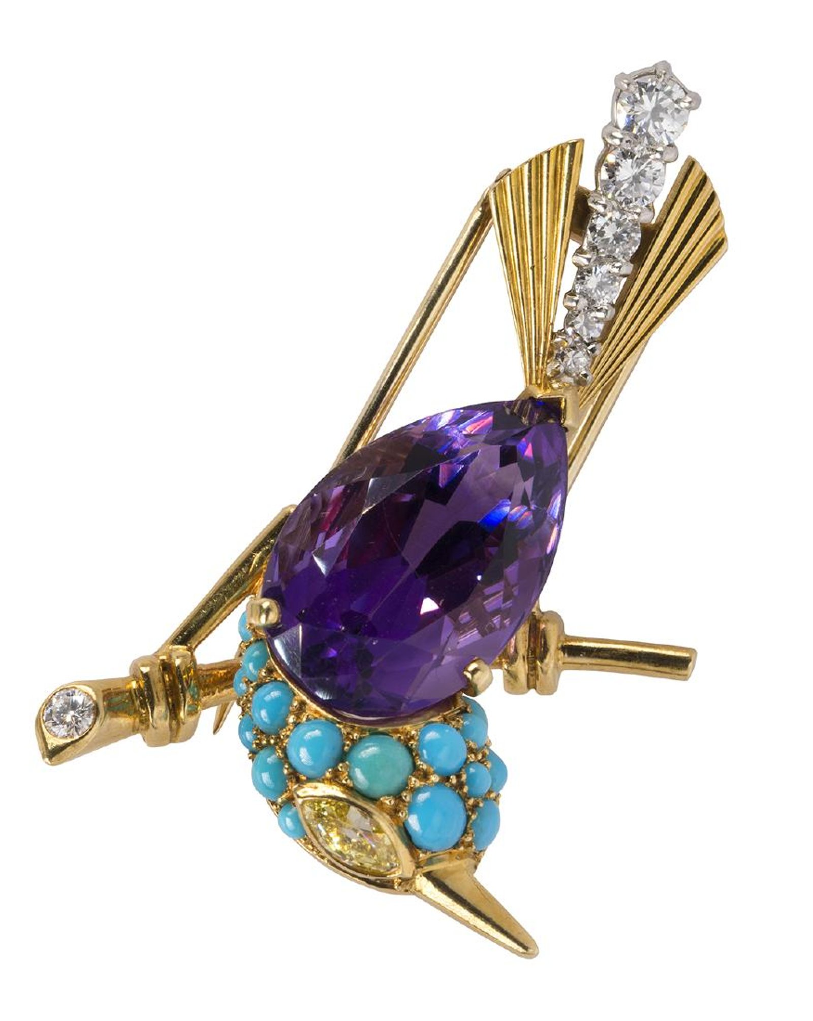 by diamond art platinum circa brooch gold and ruby onyx brooches karat lazuli cartier deco paris lapis