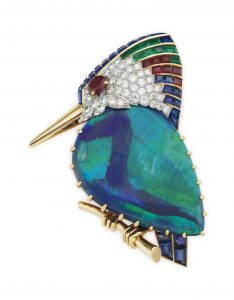 Cartier gemset bird brooch