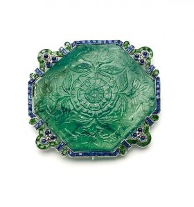 Cartier Emerald and sapphire brooch