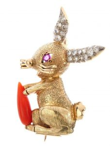 Cartier rabbit brooch