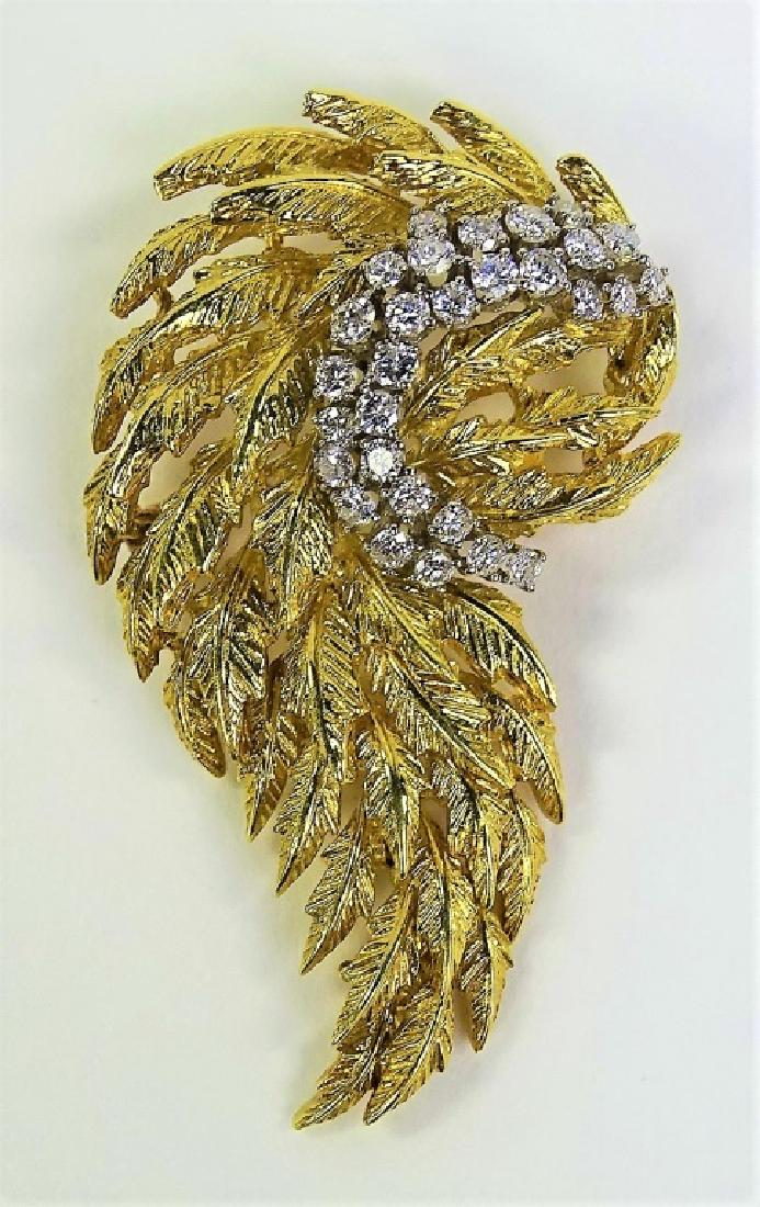 Gold & Diamond Brooch