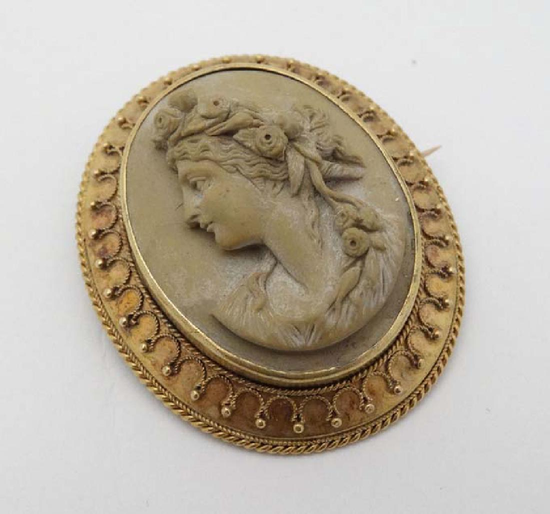 A 19th Century Lava Cameo Brooch