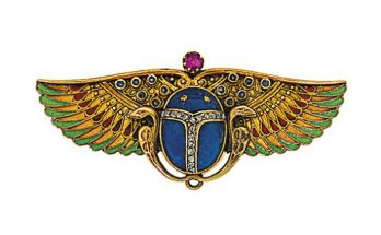 Carl Bacher Scarab Brooch