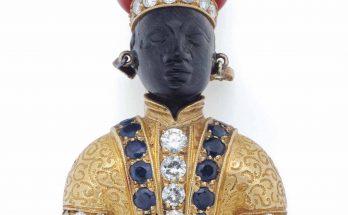 Diamond Sapphire Figural Brooch Nardi