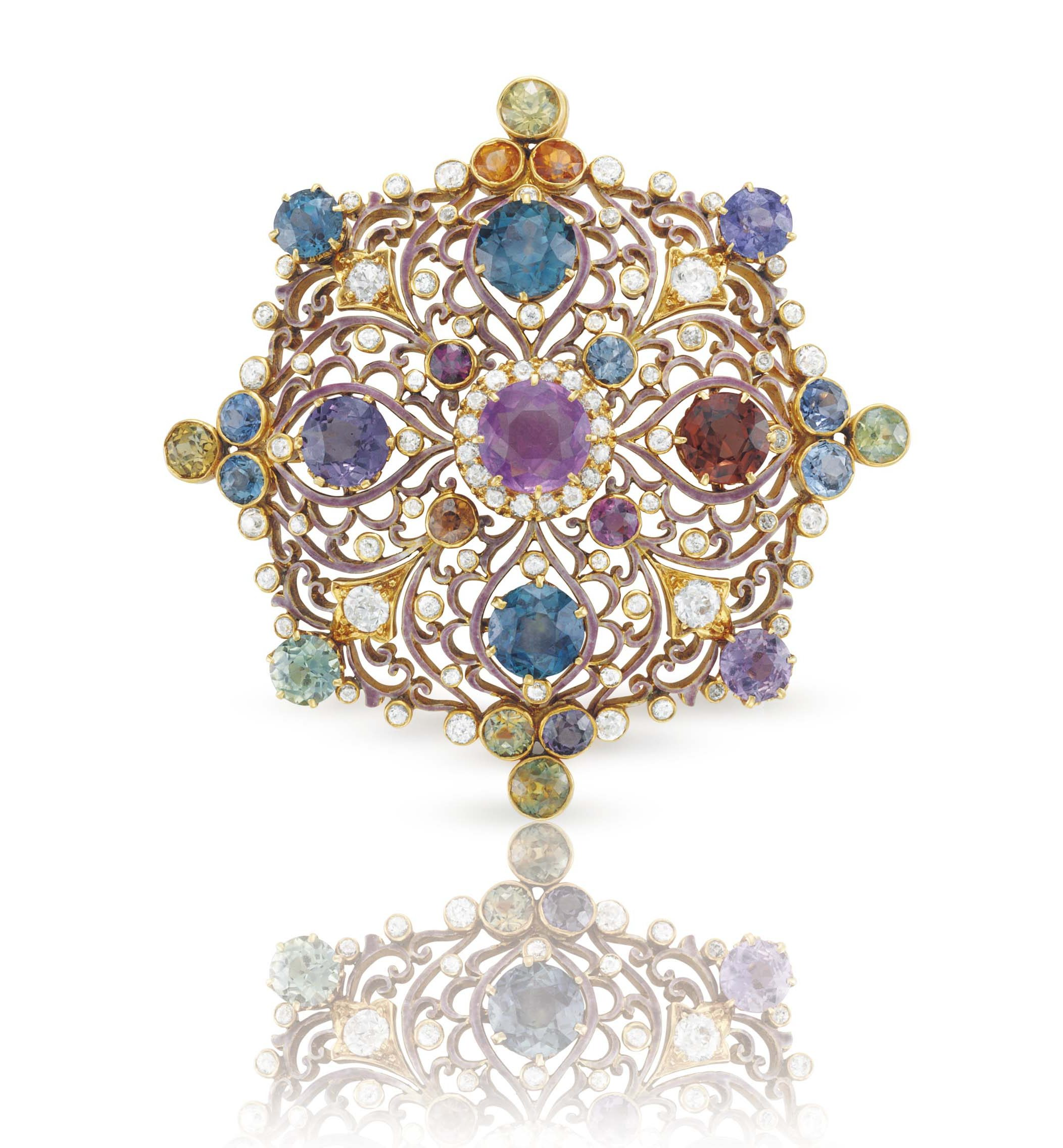 collection rose in diamonds ring platinum padparadscha gold blue images tiffany set co and sapphire with book