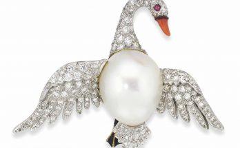 Verdura Swan Brooch