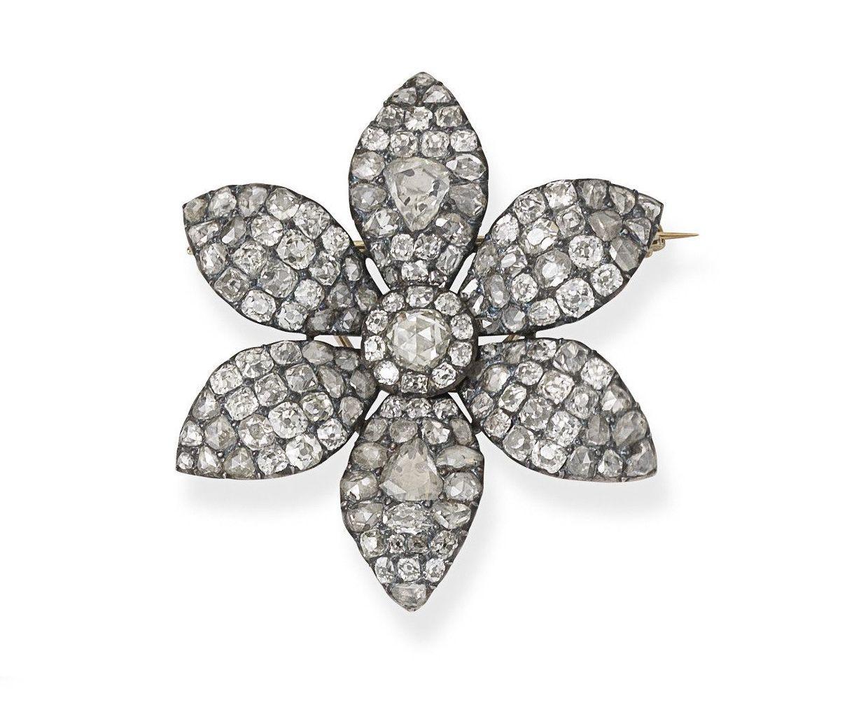 737ec764c72aa Georgian Diamond Flower Brooches > Antique Brooches