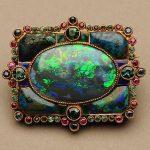 Marie Zimmermann black opal brooch