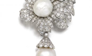 Cultured pearl and diamond brooch, Van Cleef & Arpels