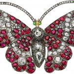 Ruby, Diamond, Silver-Topped Gold Brooch