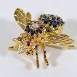 Tiffany & Co. 18KT yellow gold bee brooch pin