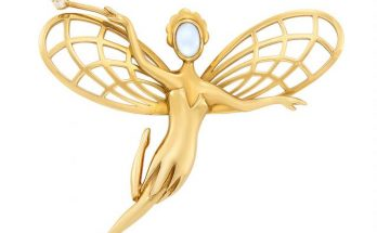 Gold, Moonstone and Diamond 'Fairy' Brooch, Van Cleef & Arpels