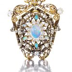 A 19th Century opal and diamond pendant/brooch
