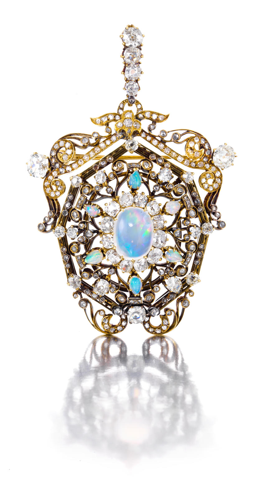 items brooch gold and diamond opal sold product antique buy