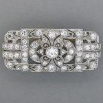 WALTON & CO. PLATINUM DIAMOND BROOCH, ca. 1930